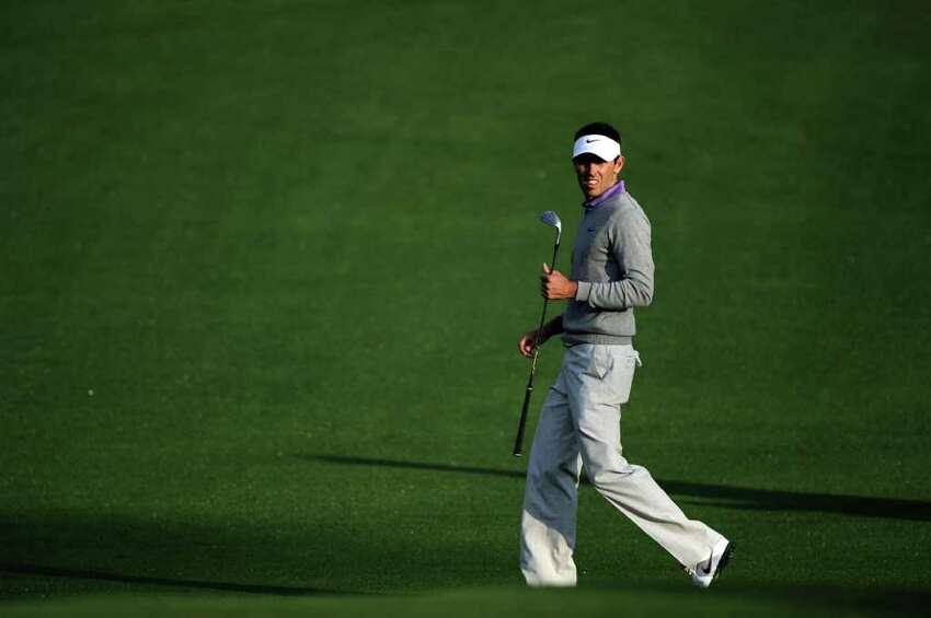 AUGUSTA, GA - APRIL 08: Charl Schwartzel of South Africa walks up the second hole fairway during the second round of the 2011 Masters Tournament at Augusta National Golf Club on April 8, 2011 in Augusta, Georgia. (Photo by Harry How/Getty Images) *** Local Caption *** Charl Schwartzel