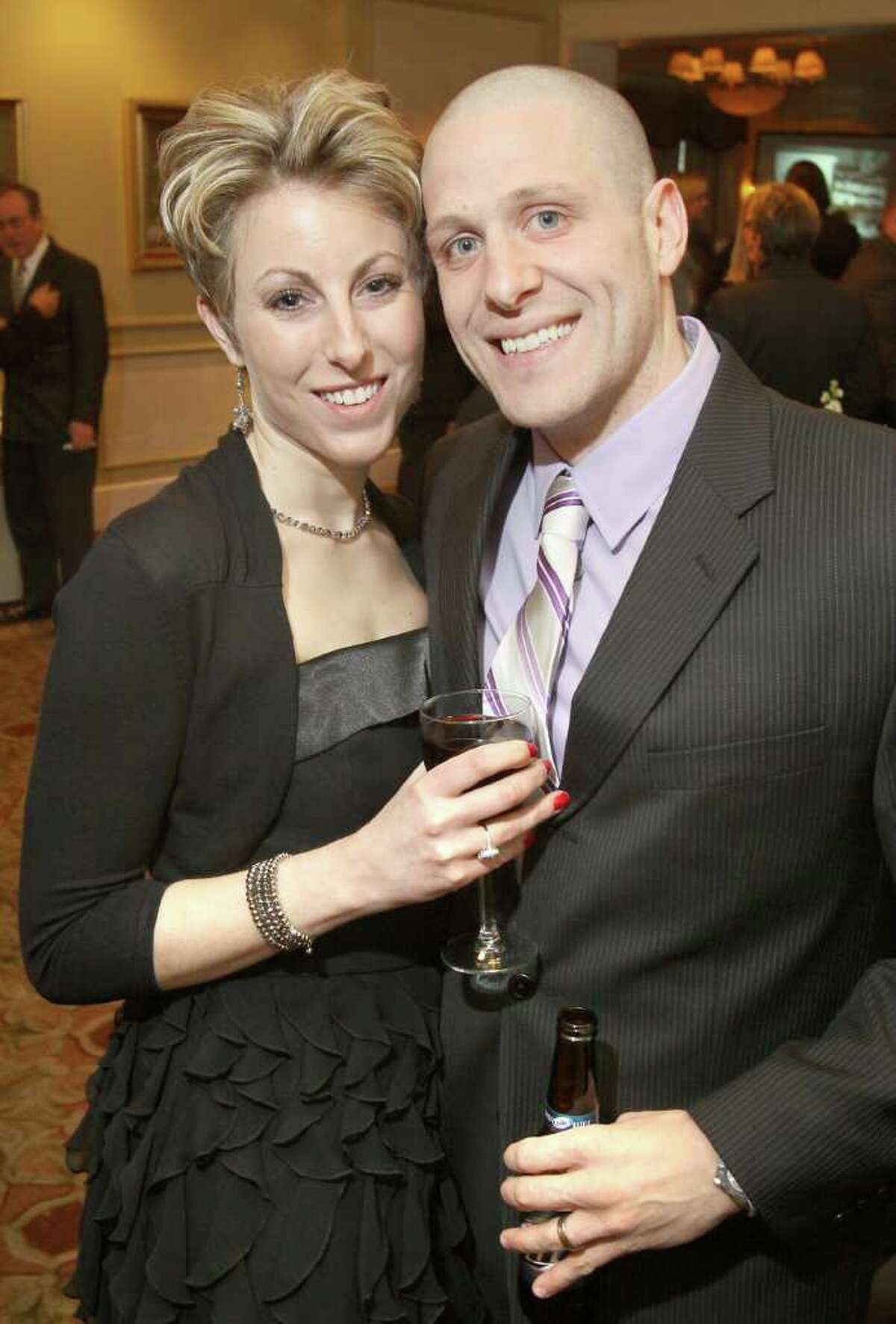 Albany, NY - March 26, 2011 - (Photo by Joe Putrock/Special to the Times Union) - Erica(left) and Joe(right) Calvanese during A Festive MS Gala presented by the Upstate NY Chapter of the National Multiple Sclerosis Society and the MS Resource of the Tristate Area to support multiple sclerosis education and research.