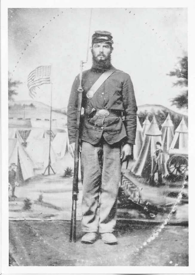 Capt. Charles A. Hobby of Company B, one of six Stamford Brothers who fought in the Civil War. Photo: File Photo / Stamford Advocate File Photo
