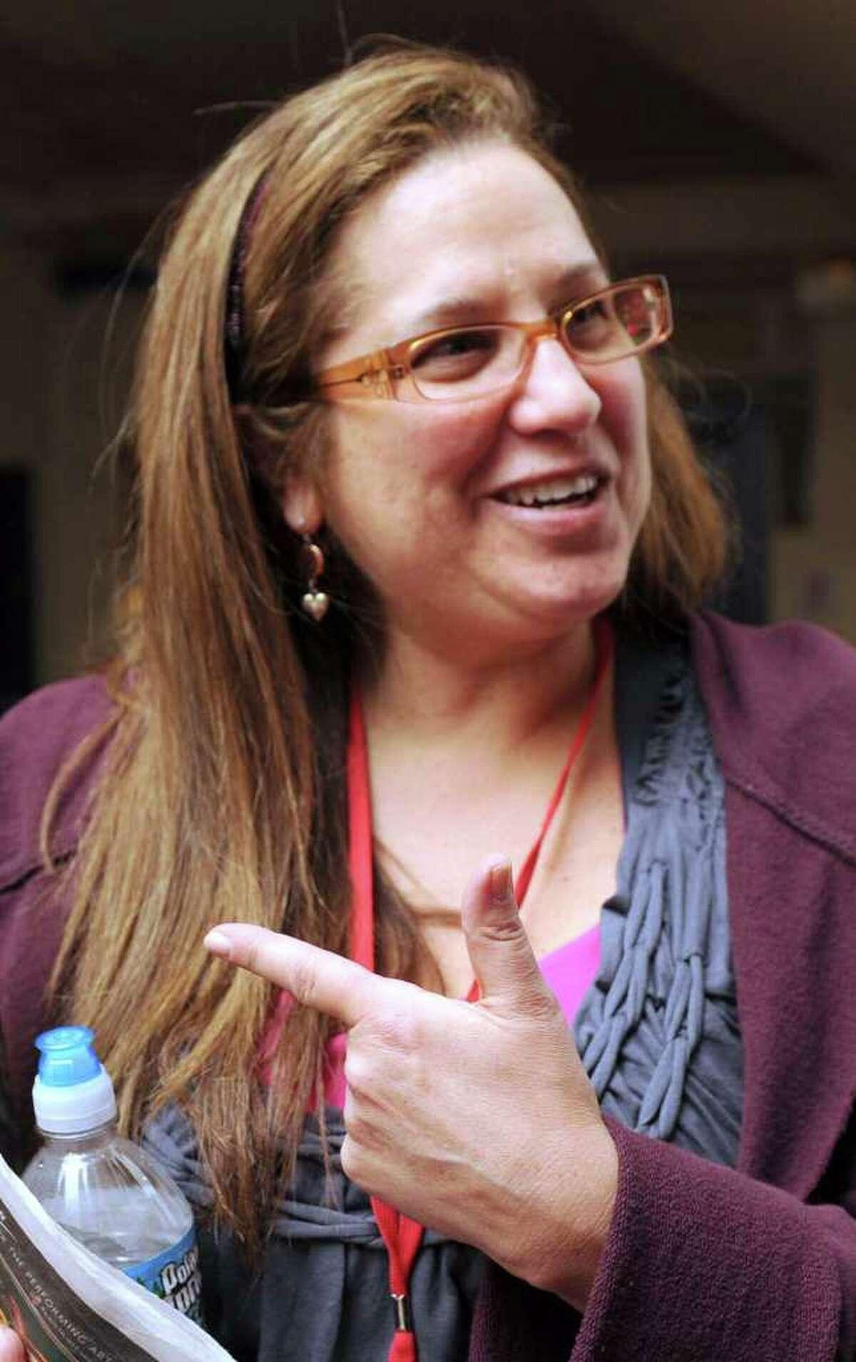 Karen Sbriglio, of Monroe, talks about the film,