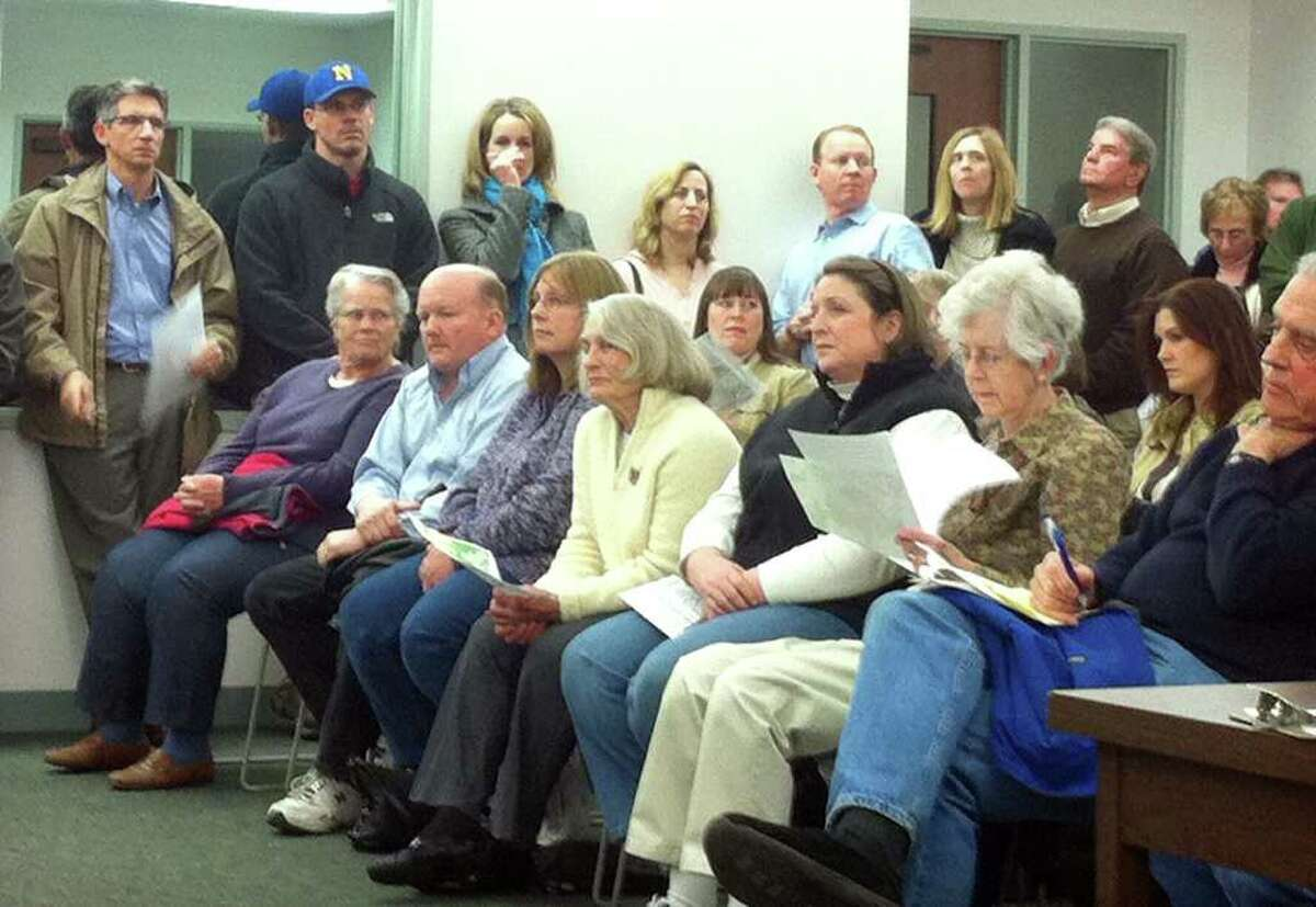 About 60 residents went to a public hearing facilitated by Newtown's Planning and Zoning Commission Wednesday night at the Municipal Center. Many residents were not in favor of apartments on the Fairfield Hills Campus.