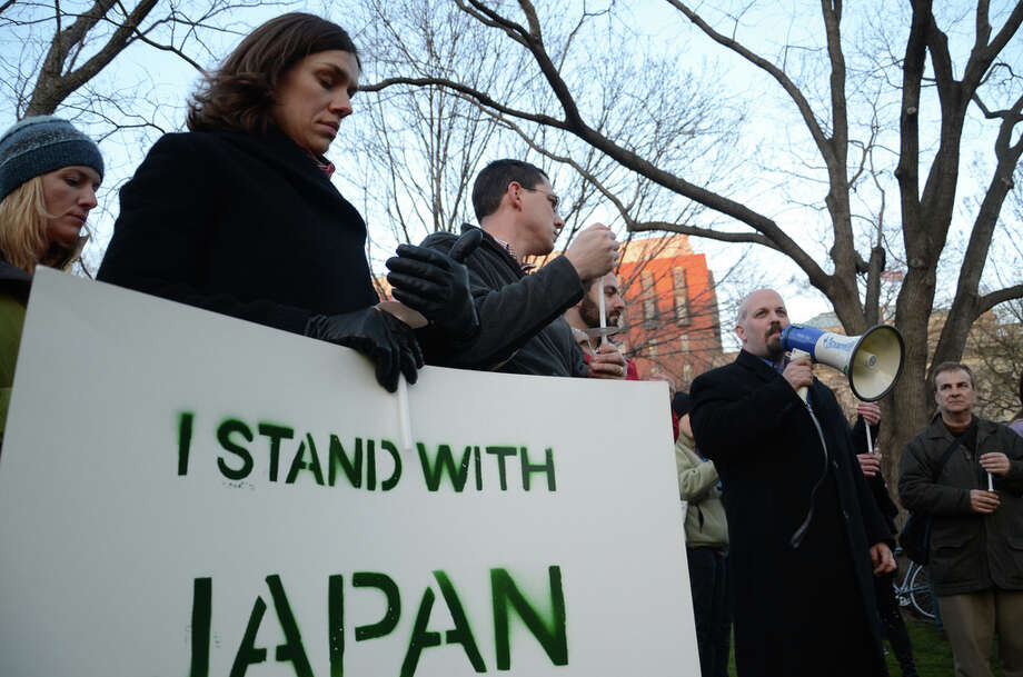 A GreenPeace vigil for Japan held recently in front of the White House in Washington, D.C. Photo: Contributed Photo / Joe Newman;Flickr, Contributed Photo / Norwalk Citizen