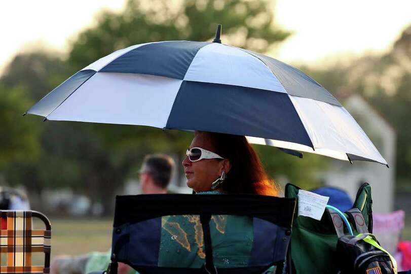 FOR METRO - B.J. Sorensen takes in the sights during the Fiesta & Fireworks at Fort Sam Houston Sund