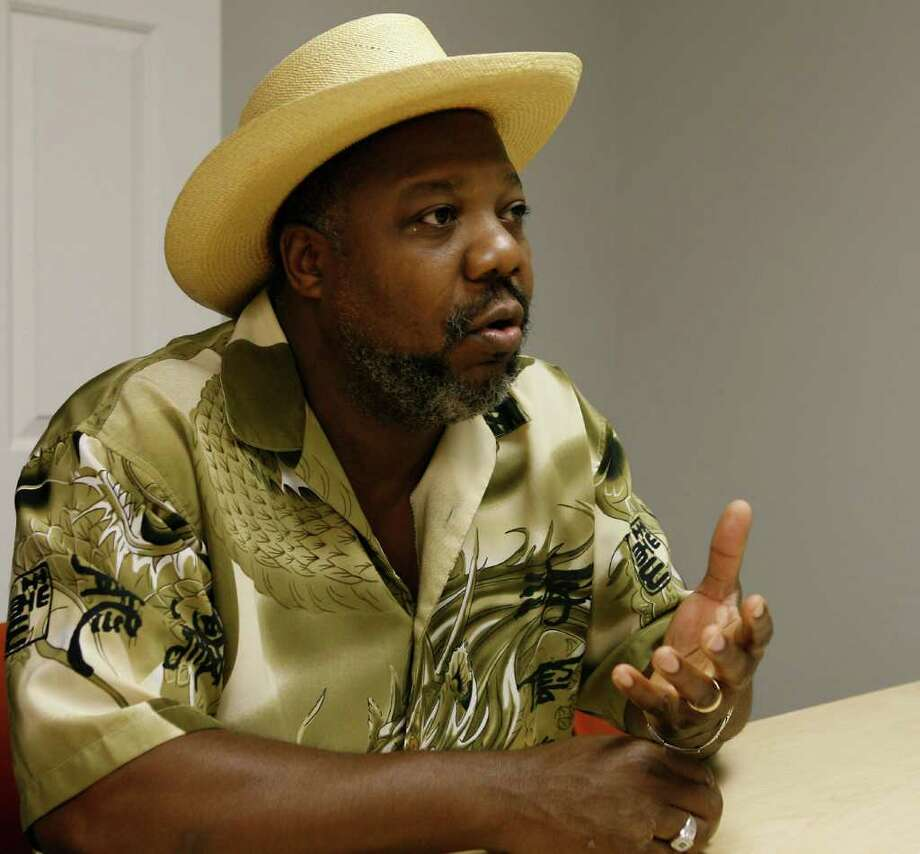 Port Arthur activist Hilton Kelley speaks out in 2008 about Veolia Environmental Services, which is asking permission from the EPA to reverse a longtime ban on importing PCBs. James Nielsen/Houston Chronicle / Houston Chronicle