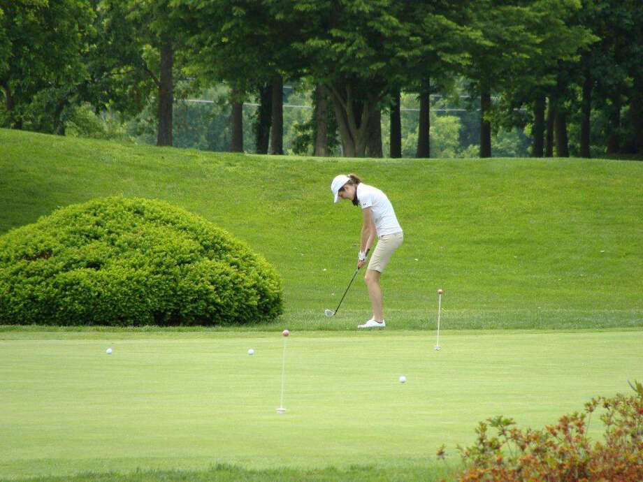 Staples junior tri-captain Kim Hynes improved a lot last year and is expected to be the team's top golfer this spring. Photo: Contributed Photo