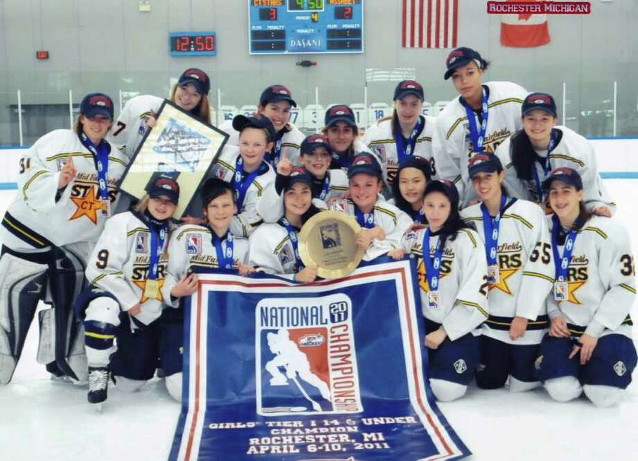 The Mid Fairfield Connecticut Stars U-14 Tier 1 hockey team (pictured) won the national championship last Sunday in Rochester, Mich. Photo: Contributed Photo / Norwalk Citizen