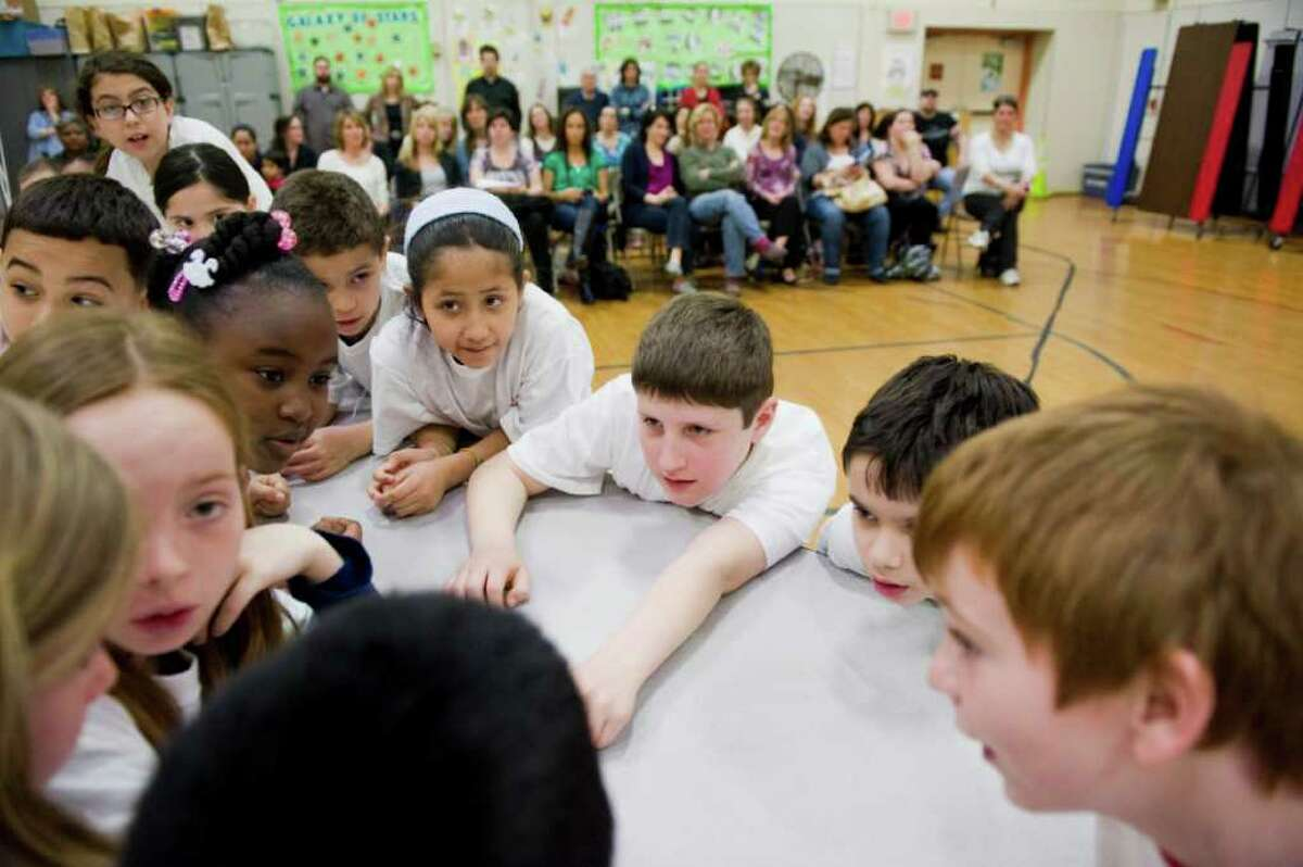 Fourth graders at Roxbury Elementary School compete in the Battle of the Books at the school in Stamford, Conn. on Tuesday April 12, 2011.