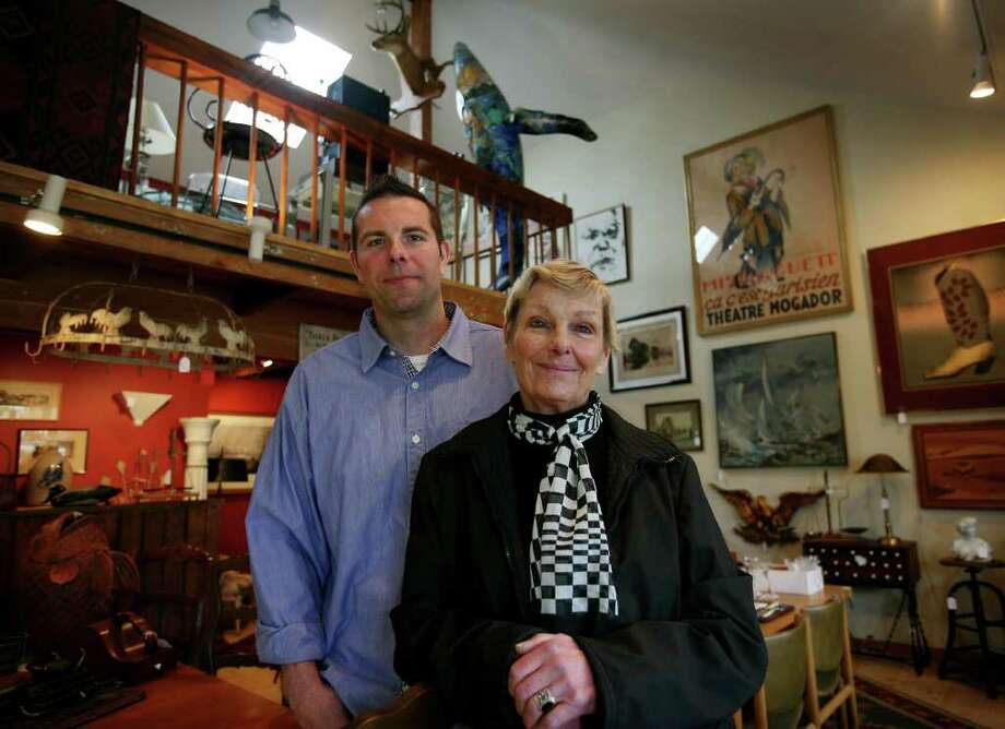 Matthew and Kathy Harrigan, co-owners of Reminisce Antiques & Consignments at 45 Ruane Street in Fairfield. Photo: Brian A. Pounds / Connecticut Post