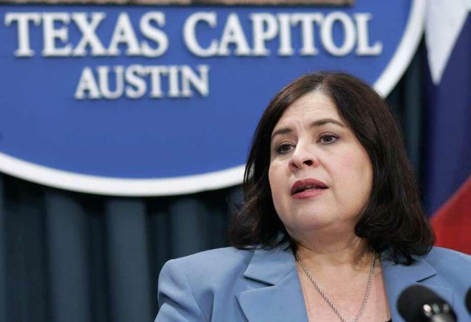 Sen. Leticia Van de Putte, D-San Antonio, at the Texas Capitol, Feb. 19, 2009, in Austin. Photo: Harry Cabluck, AP / AP