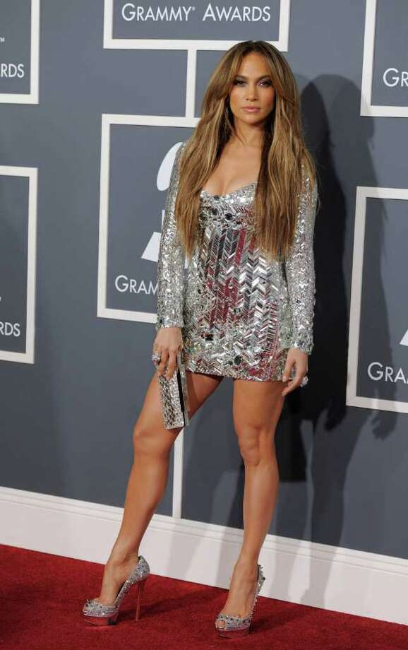 Jennifer Lopez arrives at the 53rd annual Grammy Awards on Sunday, Feb. 13, 2011, in Los Angeles. Photo: AP