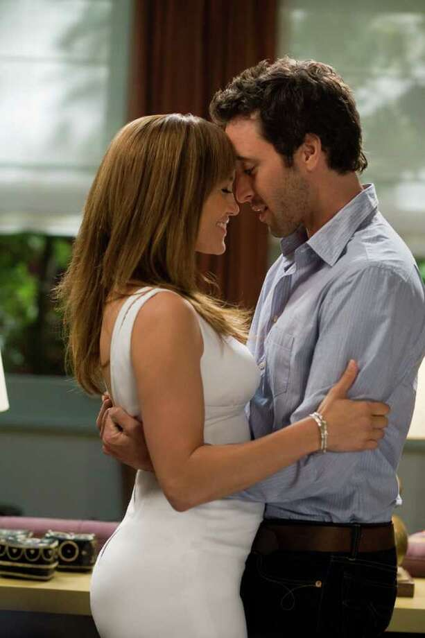 "In this film publicity image released by CBS Films, Jennifer Lopez, left and Alex O'Loughlin shown in a scene from ""The Back-Up Plan."" Photo: Peter Iovino, AP / © 2009 CBS FILMS INC."