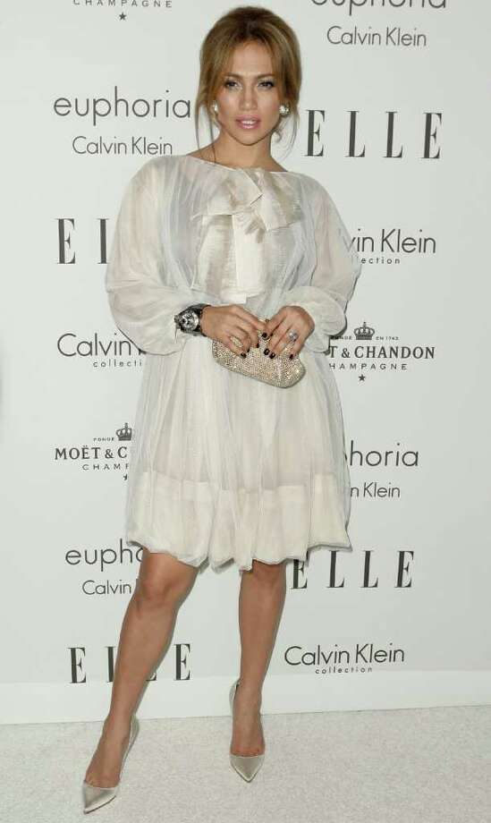 Jennifer Lopez arrives at Elle's 15th annual Women in Hollywood event in Los Angeles on Monday, Oct. 6, 2008. Photo: Matt Sayles, AP / AP