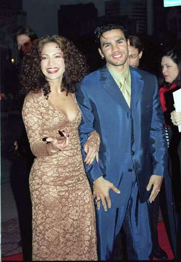 4/7/97 Los Angeles, CA Jennifer Lopez and husband Ojani Noa at the premiere of the new movie
