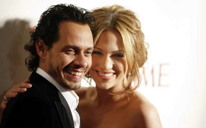 Marc Anthony and Jennifer Lopez arrive at a dinner to celebrate Time 100, Time Magazine's list of th