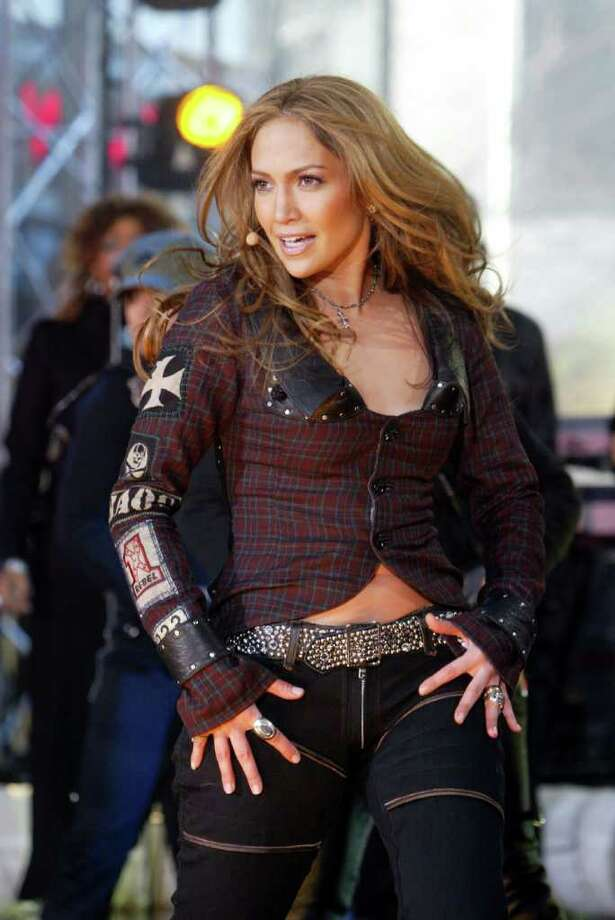 "Jennifer Lopez performs in New York's Rockefeller Plaza during the NBC ""Today"" show concert series, Thursday, March 3, 2005. She's promoting her new album ""Rebirth."" Photo: MARY ALTAFFER, AP / AP"