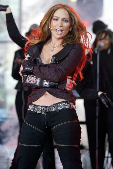 Jennifer Lopez  sings and dances  in New York's Rockefeller Plaza during the NBC
