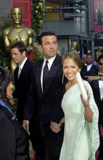 Actors Ben Affleck and his fianc Jennifer Lopez arrive for the 75th annual Academy Awards Sunday, Ma