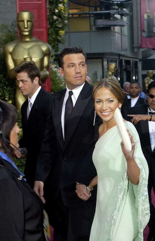 Actors Ben Affleck and his fianc Jennifer Lopez arrive for the 75th annual Academy Awards Sunday, March 23, 2003, in Los Angeles where they will be presenters during the show. Photo: AP / ACADEMY OF MOTION PICTURE ARTS