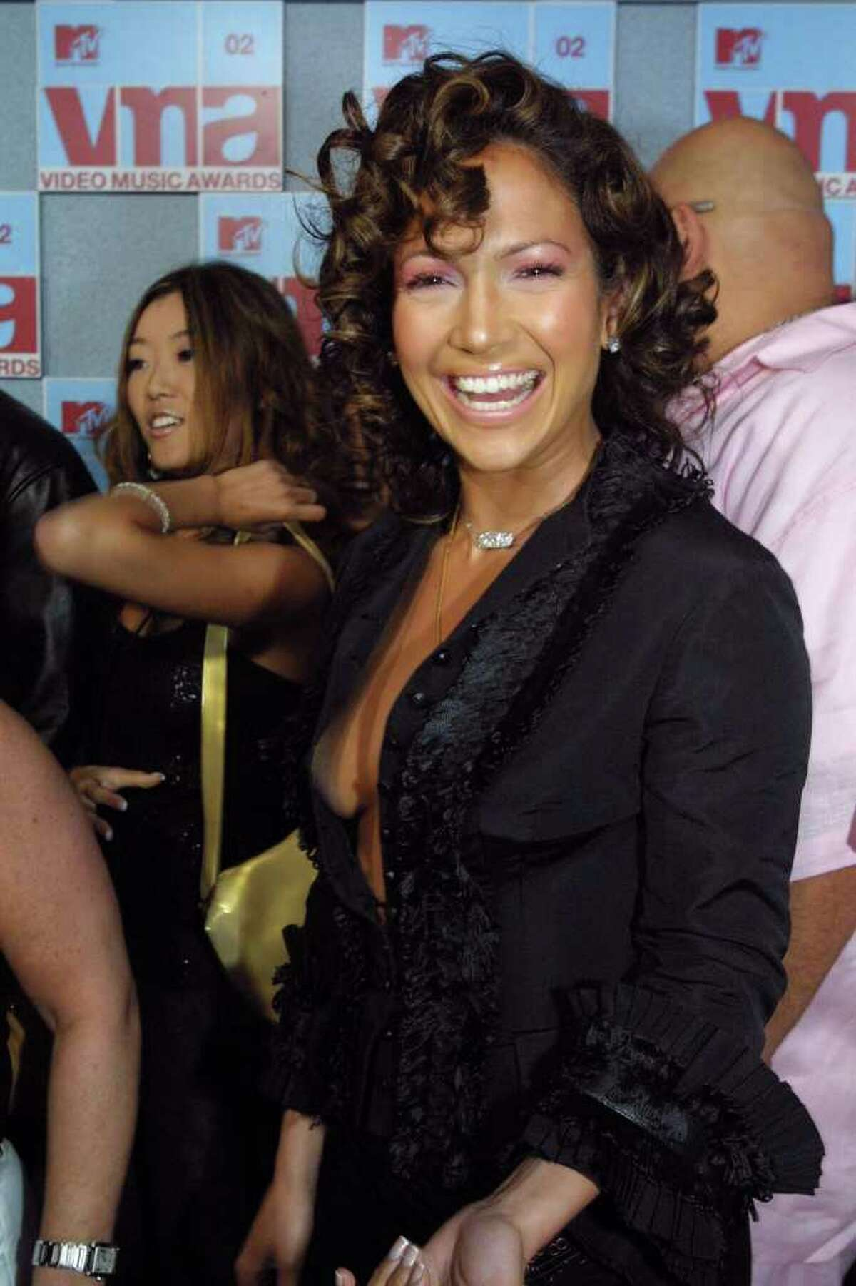 Jennifer Lopez, nominated for Best Hip-Hop video, arrives for the MTV Video Music Awards at New York's Radio City Music Hall, Thursday, Aug. 29, 2002.