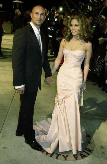 Cris Judd and Jennifer Lopez arrive at the Vanity Fair party following the 74th annual Academy Award