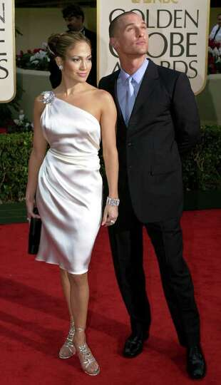 Actors Jennifer Lopez and Matthew McConaughey arrive for the 58th Annual Golden Globe Awards in Beve