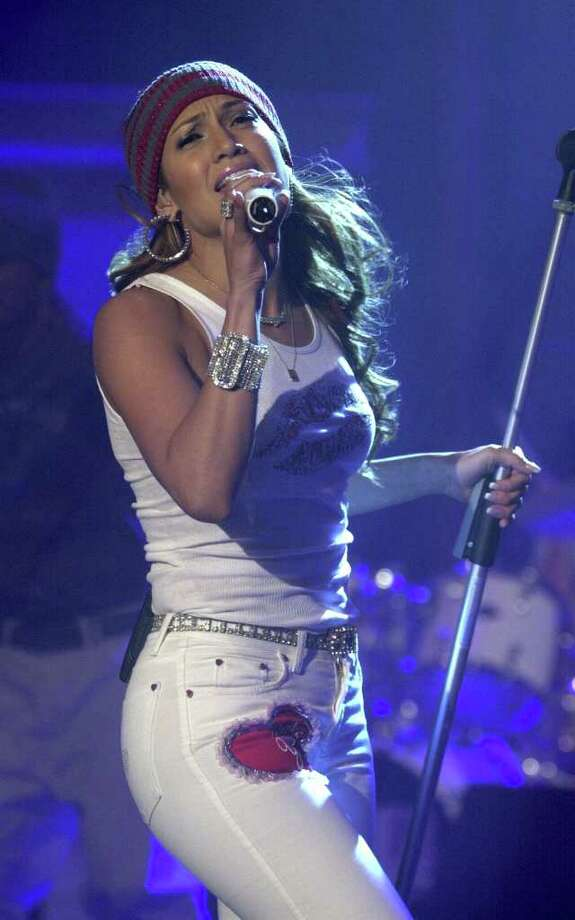 "American singer Jennifer Lopez performs Saturday Dec. 9, 2000 during the TV show ""Wetten, dass..."" (Wanna Bet?) in Basel, Switzerland. Photo: DOMINIK PLUESS, AP / KEYSTONE"