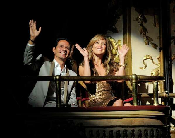 NEW YORK - JUNE 14:  Singer Marc Anthony and singer\actress Jennifer Lopez wave to the crowd in  the Apollo Theater during the 2010 Apollo Theater Spring Benefit Concert & Awards Ceremony at The Apollo Theater on June 14, 2010 in New York City.  (Photo by Jemal Countess/Getty Images) *** Local Caption *** Jennifer Lopez;Marc Anthony Photo: Jemal Countess, Getty Images / 2010 Getty Images