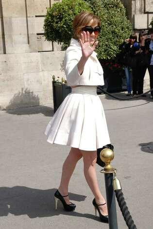 PARIS - APRIL 26:  Jennifer Lopez is sighted as she leaves Hotel Crillon on April 26, 2010 in Paris, France.  (Photo by Trago/Getty Images) *** Local Caption *** Jennifer Lopez Photo: Trago, Getty Images / 2010 Trago