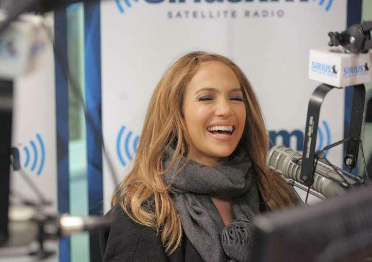 NEW YORK, NY - FEBRUARY 01:  Actress/singer Jennifer Lopez visits the SiriusXM Studio on February 1,