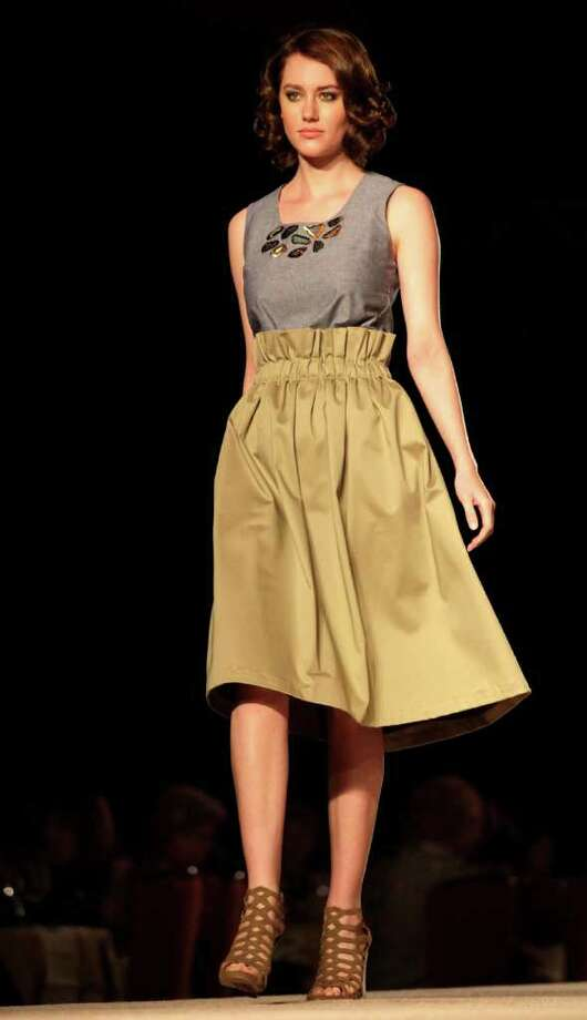Fashion design by Melissa Castelo at the University of the Incarnate Word at the Cutting Edge Fiesta Fashion Show at The Grand Hyatt Hotel, Monday. Bob Owen/rowen@express-news.net Photo: BOB OWEN, STAFF / San Antonio Express-News