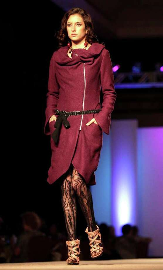 SA life - Fashion by Andrea Sepulveda, Best of Show winner at University of the Incarnate Word The Cutting Edge Fiesta Fashion Show at The Grand Hyatt Hotel, Monday, April 11, 2011. Photo Bob Owen/rowen@express-news.net Photo: BOB OWEN, STAFF / San Antonio Express-News