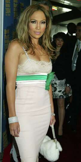 LAS VEGAS, NEVADA : SEPTEMBER 15:  Singer/actress Jennifer Lopez arrives at the 2004 World Music Awa