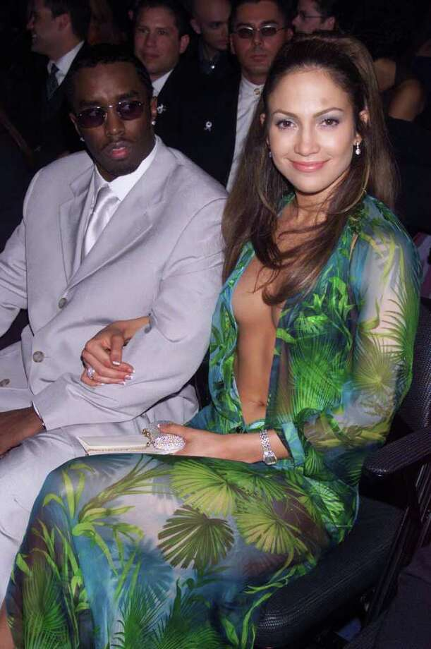 "LOS ANGELES - FEBRUARY 24:  American actress/pop star Jennifer Lopez and American Sean ""Puff Daddy"" Coombes attend the 42nd annual Grammy Awards on February 24, 2000 in Los Angeles, United States. Photo: Dave Hogan, Getty Images / 2000 Getty Images"