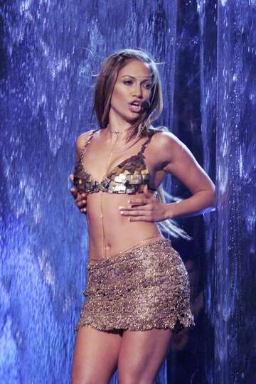 Jennifer Lopez performing on the 1999 Billboard Music Awards at the MGM Grand Garden Arena in Las Ve