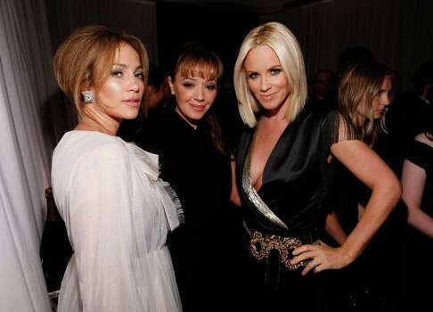 BEVERLY HILLS, CA - OCTOBER 06:  (L-R) Actresses Jennifer Lopez, Leah Remini, and Jenny McCarthy attend the 15th annual Women In Hollywood Tribute hosted by ELLE Magazine at the Four Seasons Hotel on October 6, 2008 in Beverly Hills, California. Photo: Michael Buckner, Getty Images / 2008 Getty Images