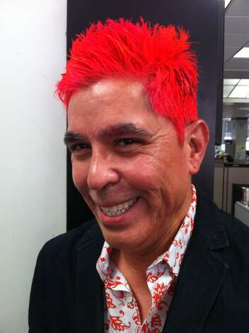 Show us Your Hair/Michael's Fiesta Follicles/Day 2: Orange you glad Michael loves Fiesta? Photo: Rene Guzman/Express-News