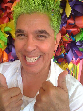 Show us Your Hair/Michael's Fiesta Follicles/Day  4: Michael is green with Fiesta envy! Photo: Rene Guzman/Express-News