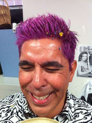 Show us Your Hair/Michael's Fiesta Follicles/Day 5: Purple reigns, too! Photo: Rene Guzman/Express-News