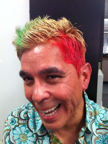 Show us Your Hair/Michael's Fiesta Follicles/Day 6: When in doubt, use 'em all Photo: Rene Guzman/Express-News