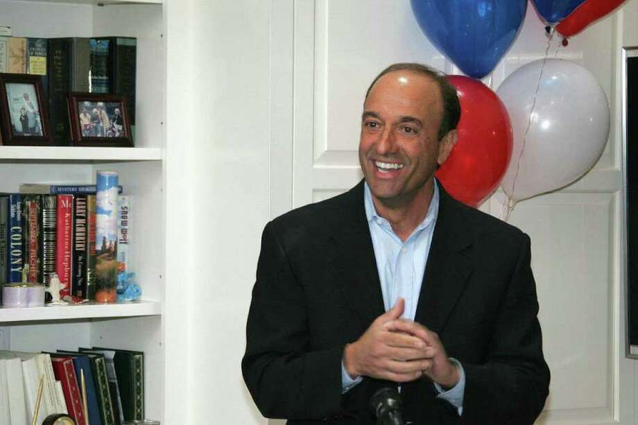 Paul Giusti announces his candidacy for First Selectman. Photo: Contributed Photo / New Canaan News