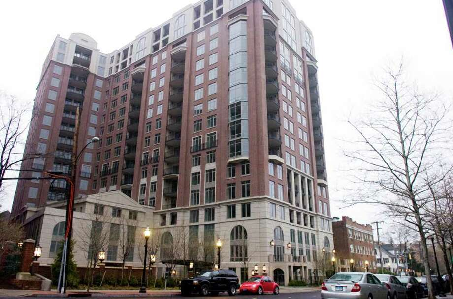 Highgrove on Forest Street in Stamford, Conn., April 13, 2011. A group of real estate investors are moving to foreclose on an $18.3 million mezzanine loan made to the developers of Highgrove, the luxury condominium highrise in downtown Stamford. The transaction would mean that the property or controlling interest of it would change hands. Photo: Keelin Daly / Stamford Advocate