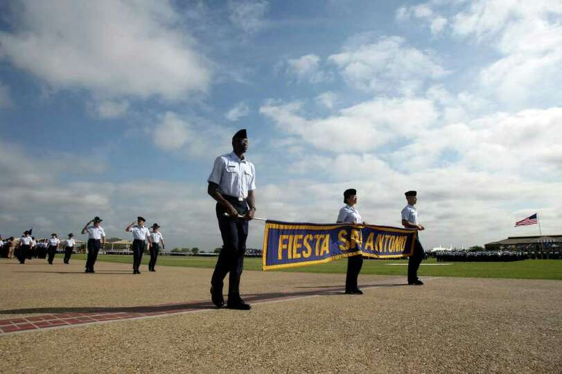 The annual Fiesta parade at Lackland AFB on Wednesday, April 13, 2011, honored Fiesta-goers with mor