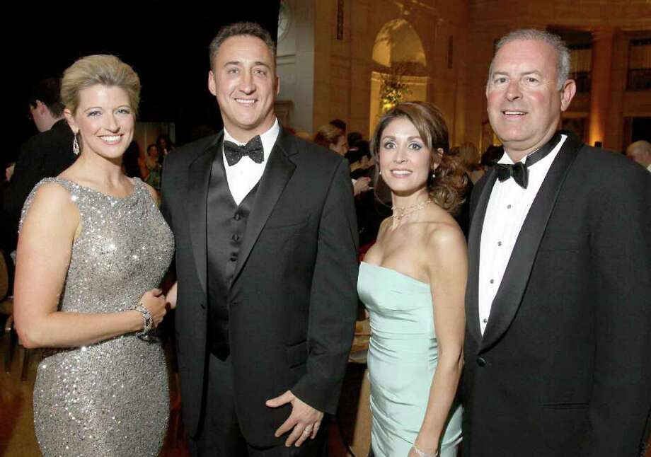 From left: Event media chairwoman Megan Baker, Frank Lanni, event chairwoman Denise Dubois and Dr. William DeLuca attend the Gala of Hope, a fundraiser for the American Cancer Society held on Saturday, April 9, at Saratoga Spa State Park in Saratoga Springs, N.Y. (Photo by Joe Putrock / Special to the Times Union) Photo: Joe Putrock / Joe Putrock
