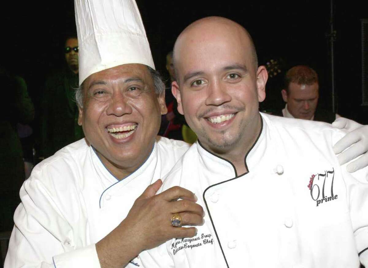 Chefs Yono Purnomo, left, and Jaime Ortiz took part in the ?Top Chef Challenge? during the Gala of Hope, a fundraiser for the American Cancer Society held on Saturday, April 9, at Saratoga Spa State Park in Saratoga Springs, N.Y. (Photo by Joe Putrock / Special to the Times Union)