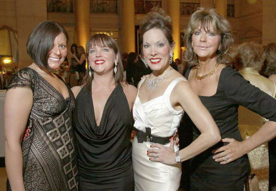 From left: Samantha Meli, Joy Lucas, Michele Riggi and Denise James attend the Gala of Hope, a fundraiser for the American Cancer Society held on Saturday, April 9, at Saratoga Spa State Park in Saratoga Springs, N.Y. (Photo by Joe Putrock / Special to the Times Union) Photo: Joe Putrock / Joe Putrock