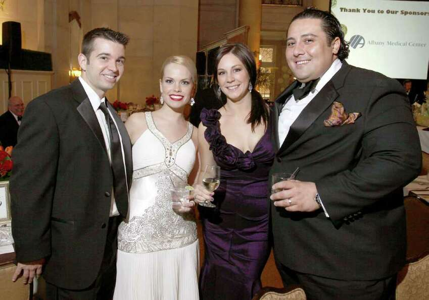From left: Conor Laverty, Colleen Mahoney, and Carolyn and Dominick Purnomo attend the Gala of Hope,