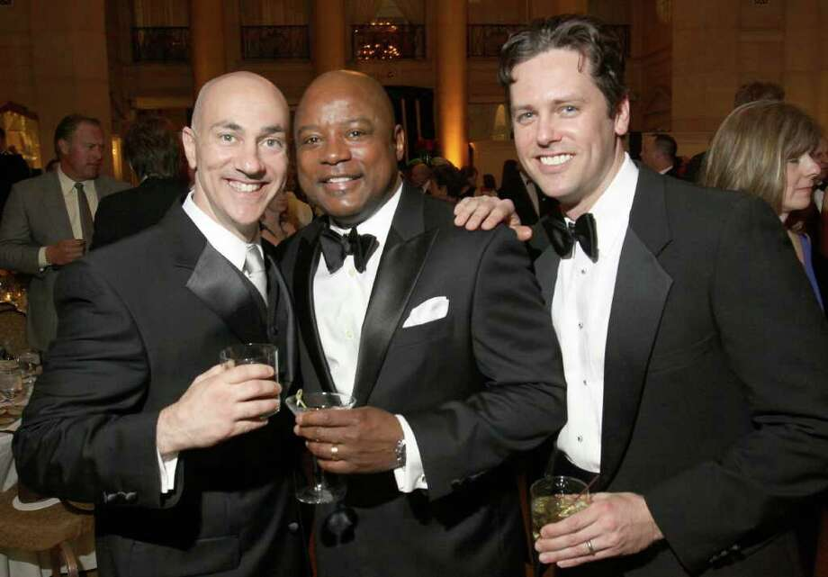 "From left: P.J. Moraci, John Douglas and Brad Wagner, otherwise known as their neighborhood's ""Rat Pack,"" at the Gala of Hope, a fundraiser for the American Cancer Society held on Saturday, April 9, at Saratoga Spa State Park in Saratoga Springs, N.Y. (Photo by Joe Putrock / Special to the Times Union) Photo: Joe Putrock / Joe Putrock"