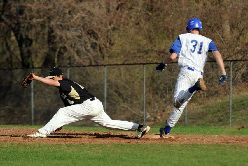 Highlights from boys baseball action between Fairfield Ludlowe and Trumbull in Fairfield, Conn. on Thursday April 14, 2011.