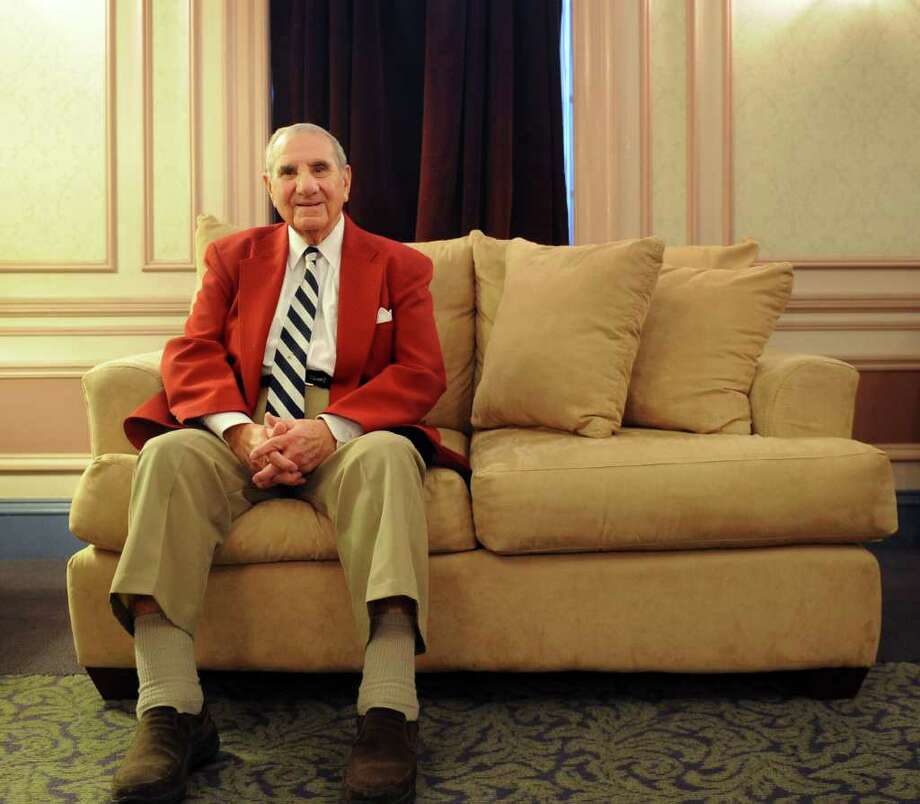 Robert Tellalian poses for a photo at the Klein Memorial Auditorium where he is chairman of the board of trustees for the Greater Bridgeport Symphony. Tellalian will be honored with Goodwill's Leadership Award for his service to the organization. Photo: Lindsay Niegelberg / Connecticut Post