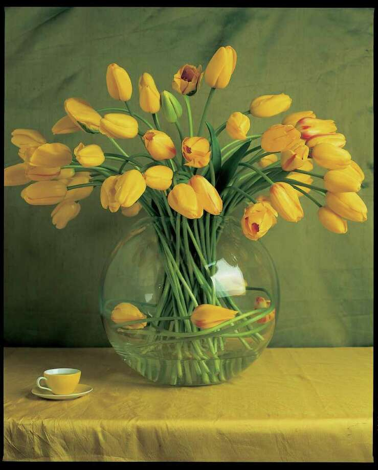 simply senuous bowl of yellow tulips. Georgia Glynn Smith photograph, from Color by Jane Packer / DirectToArchive